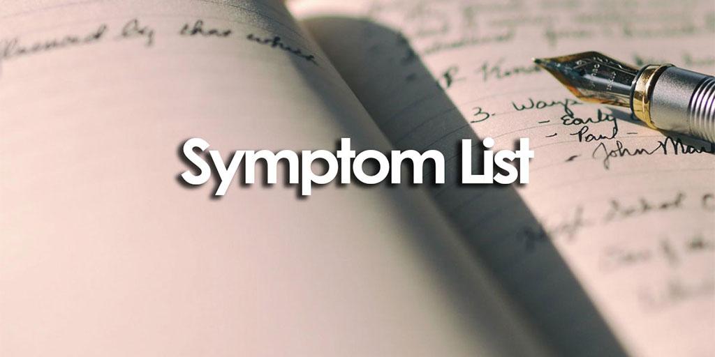 Body Organization Symptom List